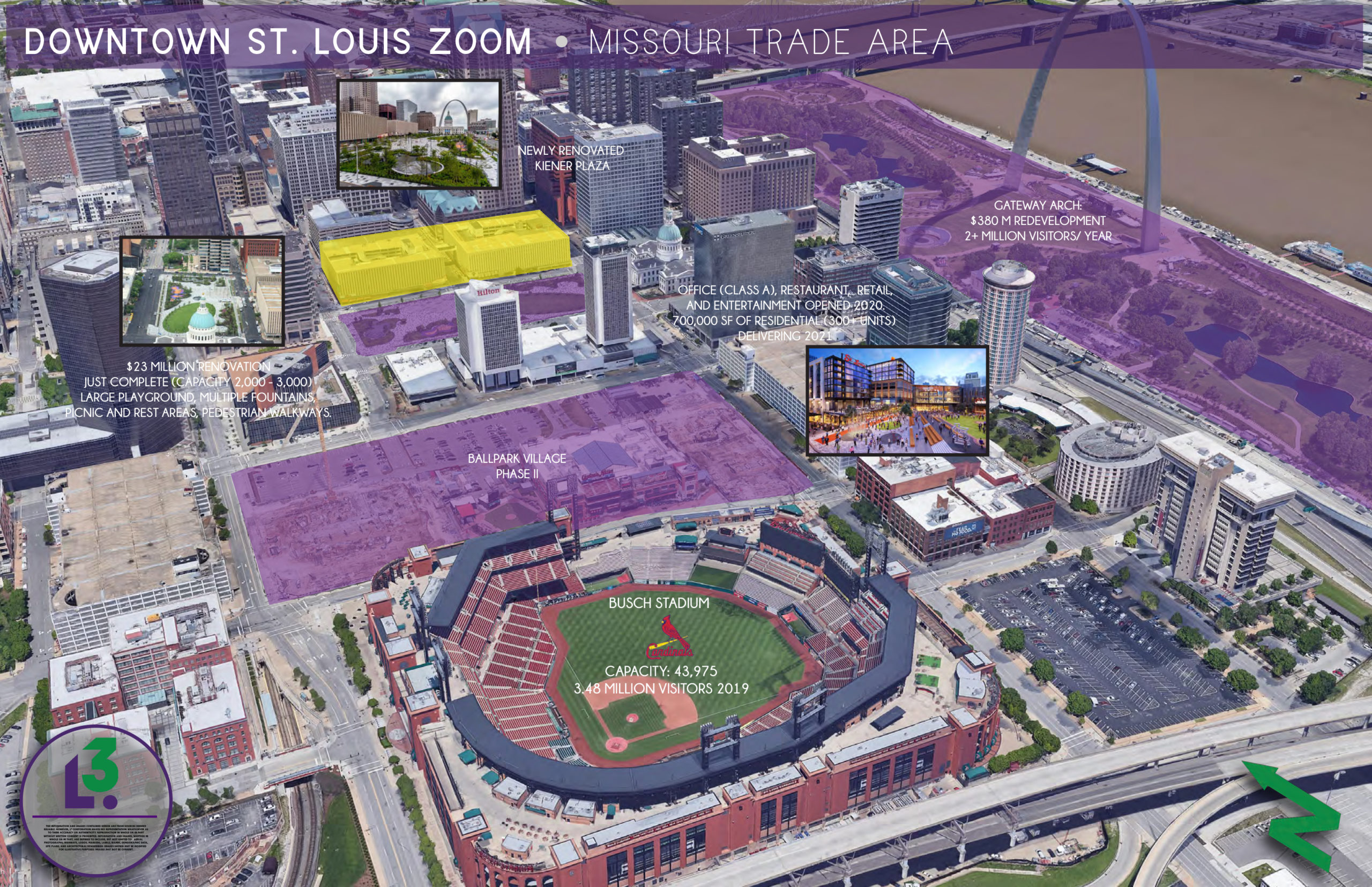 DOWNTOWN ST. LOUIS ZOOM AERIAL