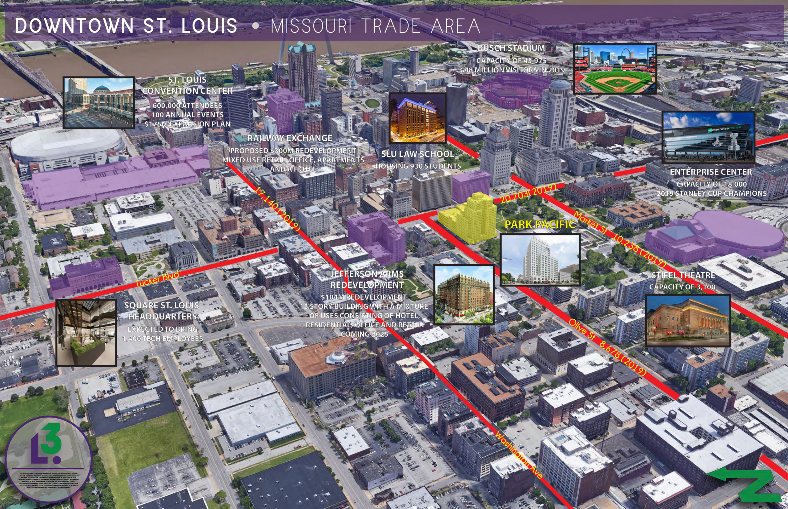 DOWNTOWN ST LOUIS AERIAL